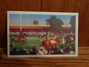 Del Mar Turf Club California Postcard Posted 1941 Horse Race Linen PC