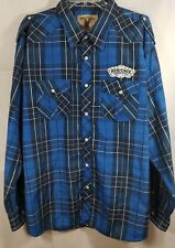 Urban Heritage Shirt Blue Check Button Down Long Sleeve Mens Big Tall Size XXL