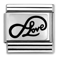 Genuine Nomination CLASSIC Silvershine Infinity Love Charm 330102/07 RRP £20.00