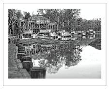 ECHUCA WHARF - Murray River Paddle Steamer Boat Wall Art Print Photograph