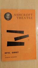 ASHCROFT THEATRE CROYDON 1962: MICHAEL DENISON & DULCIE GRAY in ROYAL GAMBIT
