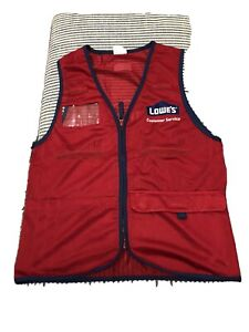 New Without Tags Lowes Customer Service Unisex Work Vest Size Small Red