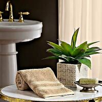 One Beige Hand Towel Hotel Luxury Reserve Collection Cotton 16 x 30 inches