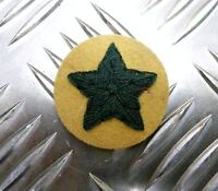 Genuine British ARMY 5 Point Star Badges / Sew on Patches Green on Maize