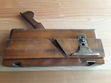 Old Wooden Moving Fillister Rabbet Plane 'W. WILSON' Woodworking Hand Tools