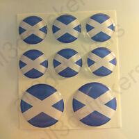 Pegatinas Escocia Pegatina Bandera Escocesa Redondas 3D Vinilo Adhesivo Relieve