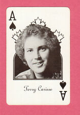 Terry Carisse Vintage Canadian Country Music Playing Card