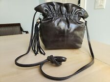 Hobo International Small Black Leather Crossbody Magnetic Close Purse Pouch