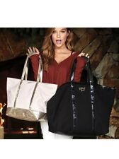 NEW Victorias Secret Sparkle Tote Bag & MATCHING Black Weekender Limited Edition