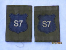 DISTINTIVO DI GRADO : Royal Militare Academy Sandhurst, rmas , blu su OLIVA, (S7