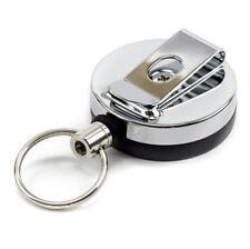 "Small Heavy Duty Retractable Key Chain 24"" Metal Pull Ring Badge Reel YoYo Steel"