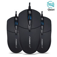 HN- Ergonomic Silent Click 1200DPI 3 Buttons Optical Office Home USB Wired Mouse