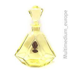 Parfüm Flakon gelbes Blei Kristall Glas Karaffe hand geschliffen hand cut glass