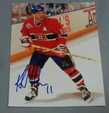 Kirk Muller, Montreal Canadiens, Signed 8 x 10 Photo, in Action