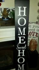 """Large Rustic Wood Vertical Porch Sign Home Sweet Home 48"""" Primitive Distressed"""