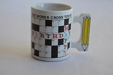 Mug/ Cup Crossword Puzzle Handle Is A Pencil