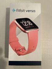 Fitbit Versa Fb504Rgpk Fitness Smartwatch - Peach Band / Rose Gold Case X
