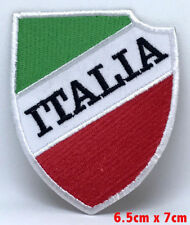 ITALY- ITALIAN Flag Soccer Football Iron Sew On Embroidered Patch UK Seller