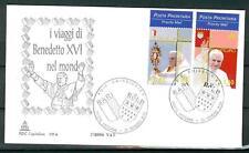VATICANO - 2006 - I viaggi del Papa Benedetto XVI nel 2005 su FDC Capitolium