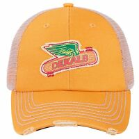 DEKALB SEED Yellow Vintage Trademark Logo Cap Hat New Ballcap Corn Distressed