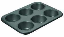 6pc Square Non-Stick Muffin Pan Baking Cooking Tray Mould Bake Cup Cake Mini