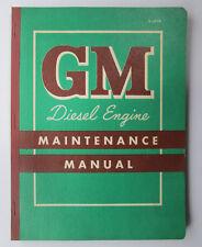 Vintage 1957 GM Series 71 (2 Cycle) Diesel Engine Maintenance Manual X-5710 GMC