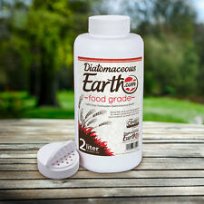 100% Food Grade Diatomaceous Earth 2 Liters Shaker by DiatomaceousEarth.com