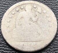 1860 S Seated Liberty Dime 10c Rare Circulated San Francisco #15081