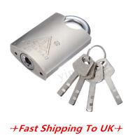 40mm 4 Keys Heavy Duty Closed Shackle High Security Solid Steel Lock Padlock