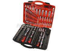 "219 PC Socket Set Ratchet Handle Wrench Tool Spanners 1/4"" 3/8"" 1/2"" Drive"