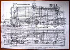 PRINT TAKEN FROM AN ORIGINAL 1906 PLAN OF 3 CYLINDER COMPOUND EXPRESS LOCOMOTIVE