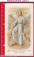 1484 SANTINO HOLY CARD GESù BAMBINO NATO PER AMORE DEGLI UOMINI