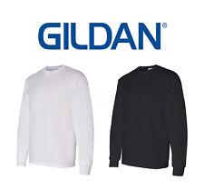 50 Gildan LONG SLEEVE T-SHIRTS Blank 25 White 25 Black BULK LOT S-XL Wholesale