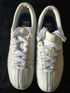 K-Swiss 'The Classic' Mens Low White Sneaker Size 9 US   42 EUR    8 UK