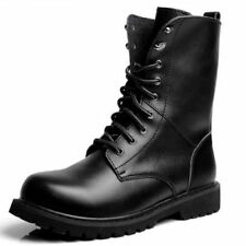 Solid Leather Military Boots for Men