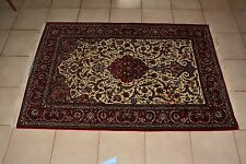 """Beautiful Extremely Fine Iran Silk and Wool Carpet Rug 3.5""""x 5.5"""""""