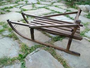 Vintage Wooden Sledge / Sleigh.