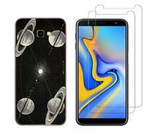 Samsung J4 Plus - Coque souple anti choc + 2 Films en verre trempé ( Espace )