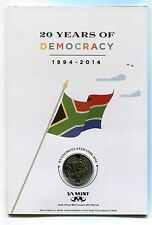 SOUTH AFRICA - 2014 20 Years of Freedom R5 and R2 Union Building in SA Mint Card