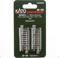 Kato 20-091 Track Assortment Set 29mm & 45,5mm 10pcs - N