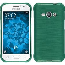 Silicone Case for Samsung Galaxy J1 ACE brushed green + protective foils