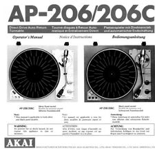 s l225 akai turntable in manuals & resources ebay Basic Electrical Wiring Diagrams at mifinder.co