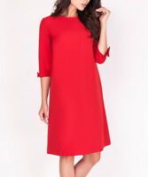 Red Dress Size 8 Ladies Womens Shift with Bow Detail