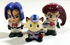 Pokemon - Jessie James Meowth Team Rocket MINI Figure LOT of 3 - Toy Doll