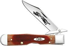 Case Cutlery Sawcut Cheetah Caramel Bone Folding Pocket Knife with guard 33982