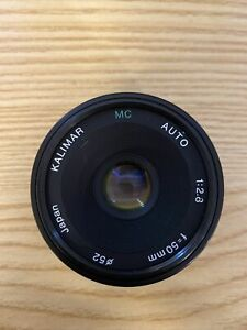 Kalimar Camera Lens Multi Coated Automatic 1:2.8 F=50mm 52ø