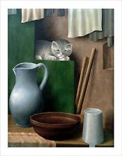 Schrimpf - Still Life with Cat 1923 fine art giclee print wall art various sizes
