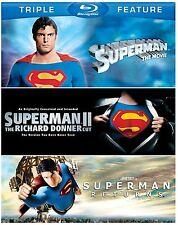 SUPERMAN THE MOVIE / 2 II DONNER CUT / RETURNS -  Blu Ray - Sealed Region free