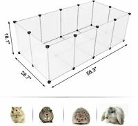 Dog Pet Playpen Portable Plastic Yard Fence Animals 12/20 Panel Exercise Cage
