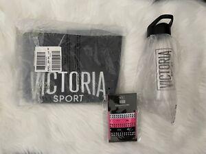Victoria's Secret Sport Black Carry On Large Tote Bag Gym Bag Bottle Lot